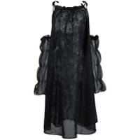Renli Su Vestido Oversized Com Vazado Nos Ombros - Preto