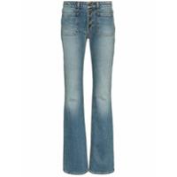 Saint Laurent Calça Jeans Flare Com Botões - Azul