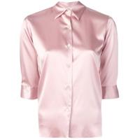 Blanca Camisa Clássica - Rosa