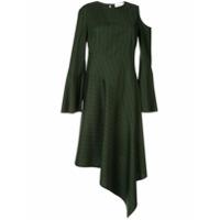 Portspure Vestido Listrado Com Recortes Vazados - Verde