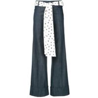 Maggie Marilyn Calça Jeans Pantalona - Azul