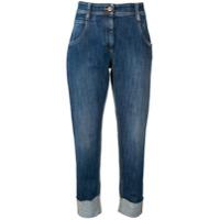 Brunello Cucinelli Calça Jeans Cenoura Cropped - Azul