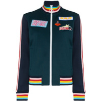Mira Mikati Embroidered Patch Bomber Jacket - Green