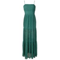 Bo.bô Vestido Longo Plissado - Verde