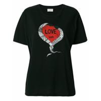 Saint Laurent Camiseta 'love' - Preto