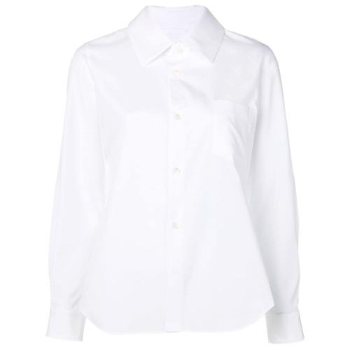 Comme Des Garçons Comme Des Garçons curved hem shirt - Branco
