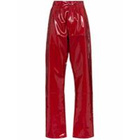 Gmbh Calça X Browns Marie De Vinil Cintura Alta - Vermelho
