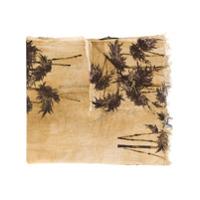 Uma Wang Cachecol Com Estampa De Palmeira - Neutro