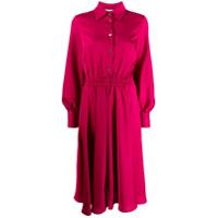 Shirtaporter Vestido Com Franzido No Cós - Rosa