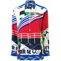 Ralph Lauren Collection Camisa Com Estampa De Seda - Neutro