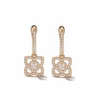 De Beers Par De Brincos Enchanted Lotus De Ouro 18Kt Com Diamantes - Yellow Gold