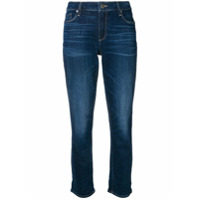Paige Cropped Jeans - Azul