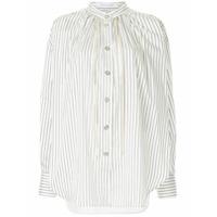 Walk Of Shame Camisa Listrada - Branco