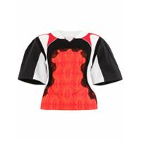 Koché Blusa Com Detalhe De Renda - Vermelho