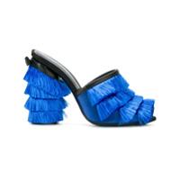 Marco De Vincenzo Mule Com Franjas - Azul
