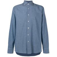 Borriello Camisa Lisa Com Botões - Azul