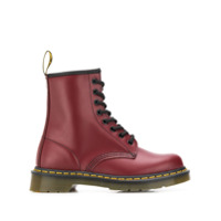 Dr. Martens Leather Ankle Boots - Vermelho