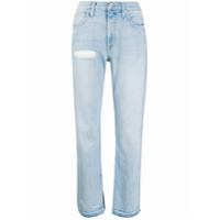 Slvrlake Calça Jeans Reta Cintura Alta Rider - Azul
