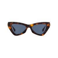 Jimmy Choo Eyewear Óculos De Sol Tartaruga - Marrom