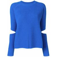 Zoe Jordan Suéter Com Recortes - Azul