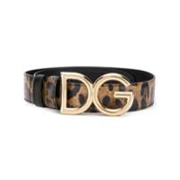 Dolce & Gabbana Cinto Animal Print - Marrom