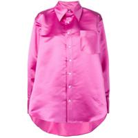 Matthew Adams Dolan Camisa Oversized Com Bolso No Busto - Rosa