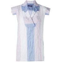 Harvey Faircloth Blusa Com Recortes Listrados - Azul
