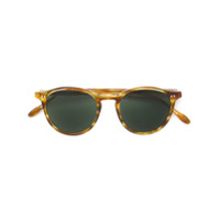 Pantos Paris Óculos De Sol Redondo - Marrom