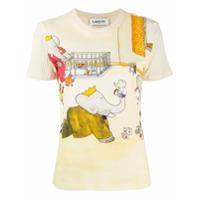 Lanvin Babar The Elephant Print T-Shirt - Neutro