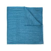 Brunello Cucinelli Echarpe Com Acabamento Puído - Azul