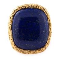Aurelie Bidermann Anel Banhado A Ouro 18Kt - Azul