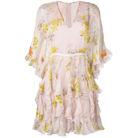 Giamba Vestido Com Estampa Floral - Neutro