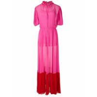 Andrea Bogosian Vestido Longo Poli Couture De Seda - Rosa