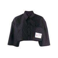Marcelo Burlon County Of Milan Camisa Cropped - Preto