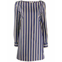 Max Mara Studio Striped Shirt Dress - Branco