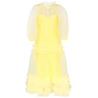 Lee Mathews Vestido Agnes - Amarelo