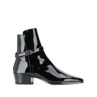 Saint Laurent Ankle Boot Com Fivela - Preto