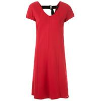 Armani Exchange Vestido Curto Justo - Vermelho
