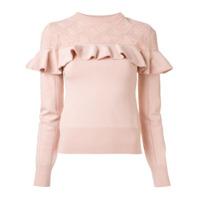 Erdem Suéter Com Babado - Rosa