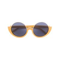 Marni Eyewear Óculos De Sol Redondo - Amarelo