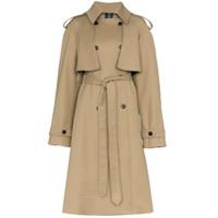 Matthew Adams Dolan Trench Coat Com Amarração - Neutro