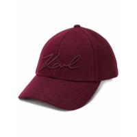 Karl Lagerfeld Boné Signature - Vermelho