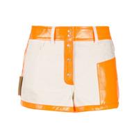Courrèges Shorts Bicolor - Neutro