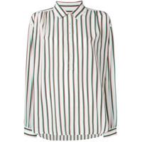 Closed Camisa Com Listras Verticais De Seda - Branco
