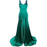 Parlor Vestido Longo De Seda - Green
