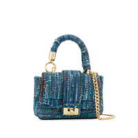 Alila Bolsa Tote Mini De Tweed - Azul