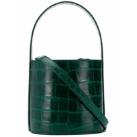 Staud Staud Embossed Bucket Bag - Green