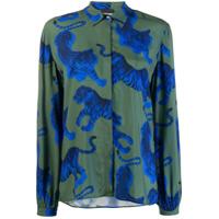 Just Cavalli Tiger Print Shirt - Verde