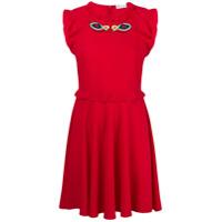 Red Valentino Vestido Evasê - Vermelho