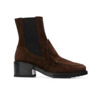 Tod's Ankle Boot Salto Bloco De Camurça - Marrom